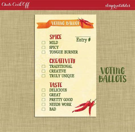 instant  chili cookoff voting ballot invitation