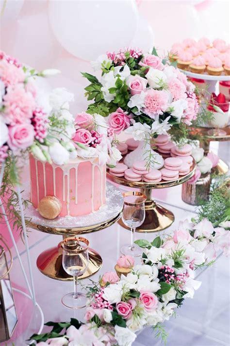 pink white and gold birthday decorations kara s ideas pink white gold garden kara