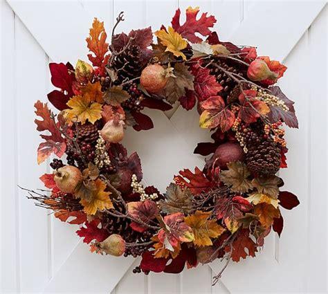 pottery barn wreath 2017 pottery barn fall decorating 20 trendy fall