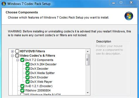 Codecs are computer programs that encode or decode videos, and different codecs work with various video formats. Windows 7 Codec Pack - Free Download 64 bit / 32 bit