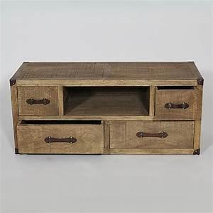 meuble tv vintage orange solutions pour la decoration With meuble vintage