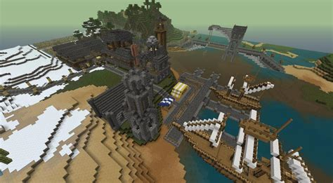 fishing village minecraft map