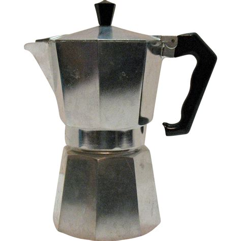 vintage one cup moka coffee pot by marimba from the 1950s from teesantiqueorchard on ruby