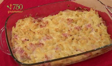 calorie gratin de pate recette gratin de p 226 tes au jambon en vid 233 o