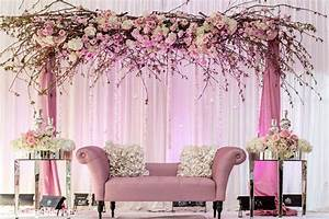 pink-wedding-decor-theme-fabric-flowers Fabric and Flowers