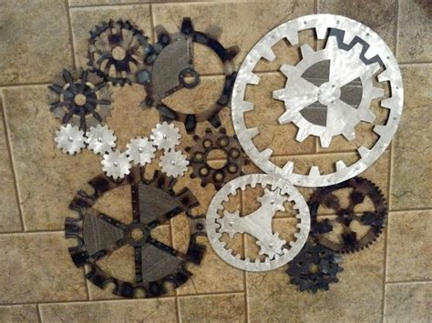 Items Similar To Gears Art Industrial Steampunk Wall
