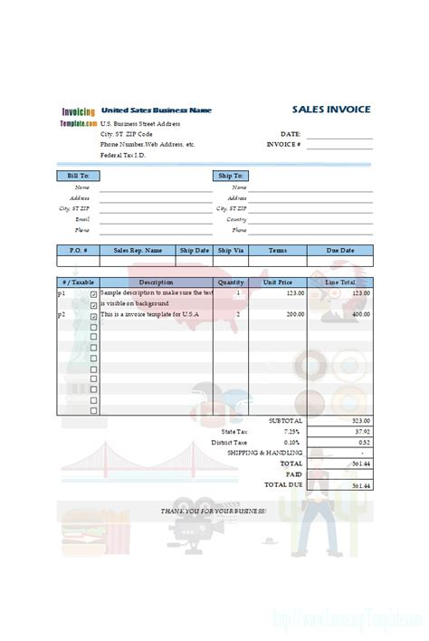 Sle Invoice Template Tax Invoice Templates For 11 Countries