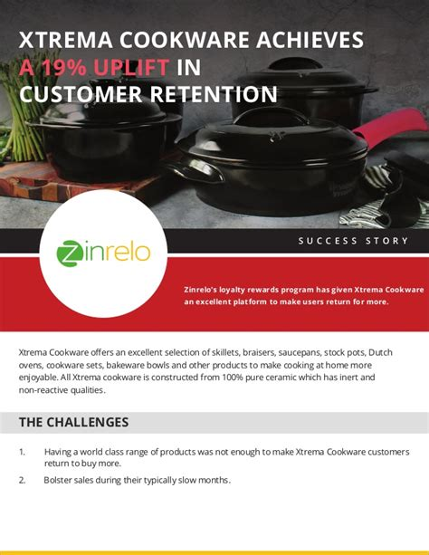 cookware flyer xtrema uplift achieve retention study customer case