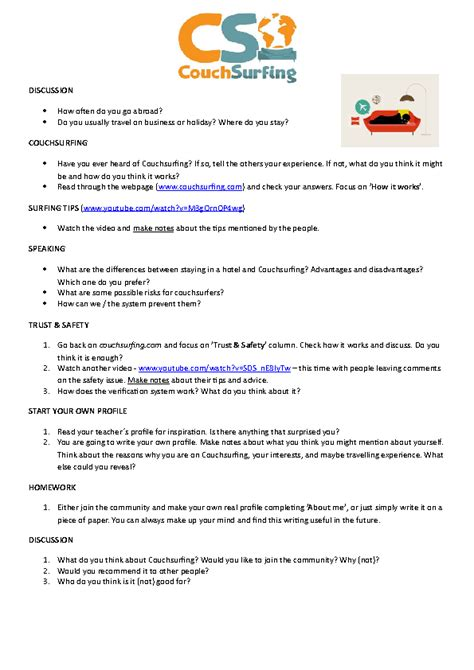 hotel worksheets