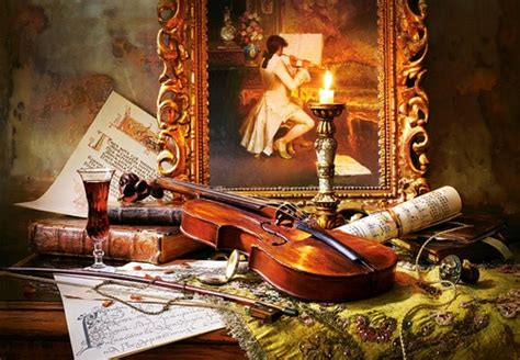 life  violin  painting pc jigsaw puzzle