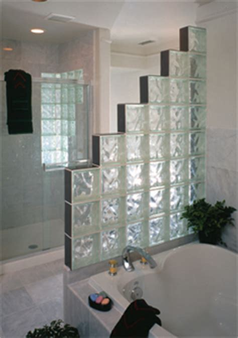 glass block photo gallery accent building products