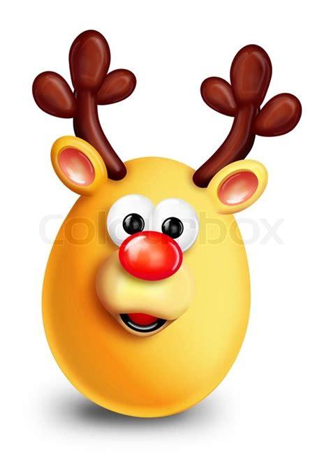 ei weihnachten whimsical weihnachten ei rentier stockfoto colourbox