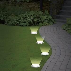 Leuchten Für Den Garten : solarzauber bodenleuchten 4er set bodenstrahler edelstahl solar leuchten ebay ~ Sanjose-hotels-ca.com Haus und Dekorationen