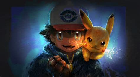 Ash And Pikachu Artwork, HD Anime, 4k Wallpapers, Images