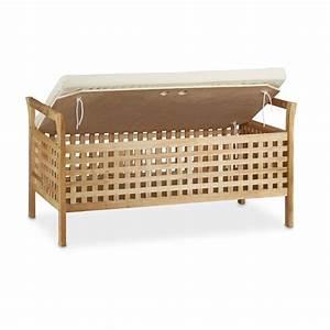 Banc Avec Rangement : banc de rangement en bois de noyer banquette assise coffre ~ Melissatoandfro.com Idées de Décoration