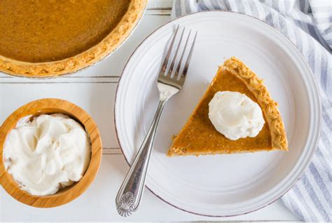 Pumpkin Pie With Homemade Whipped Cream