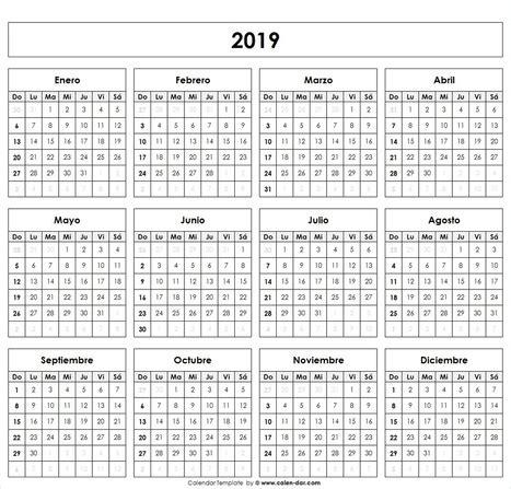 calendario imprimible calendar printable