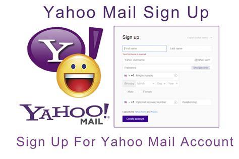 Yahoo Mail Sign Up - Sign Up For Yahoo Mail Account - Kikguru