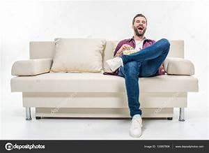 Sofa Man Man Sitting On A Sofa Stock Photo Photography33 ...