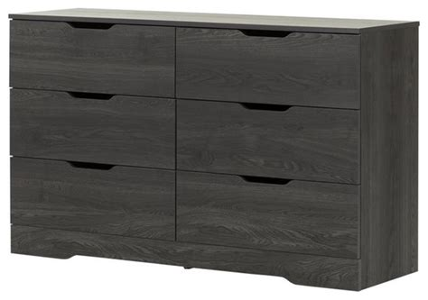 south shore furniture south shore 6 drawer dresser gray oak dressers houzz
