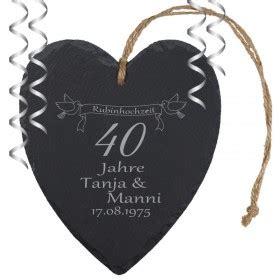 was schenkt zum hochzeitstag rubinhochzeit geschenke personalisiertes zum 40 hochzeitstag