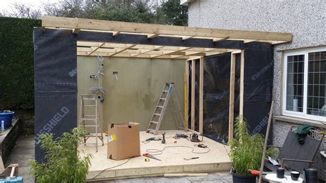 garden bar room attached to side of house made to