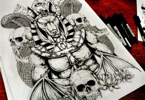 Anubis Back Tattoo Sold By Eg Thefreak On Deviantart