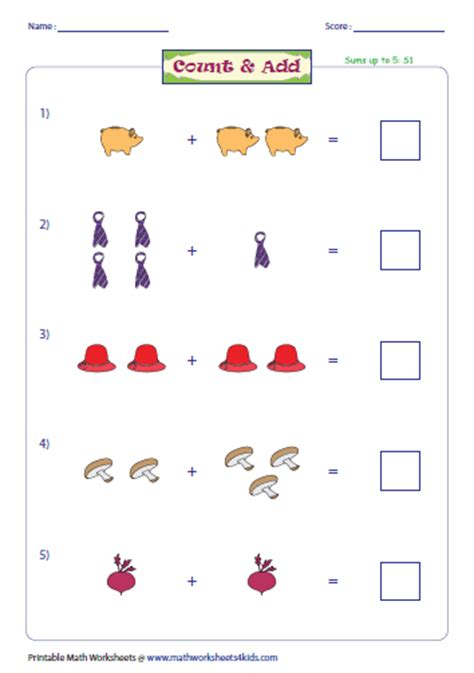 simple addition worksheet grade addition with pictures worksheets