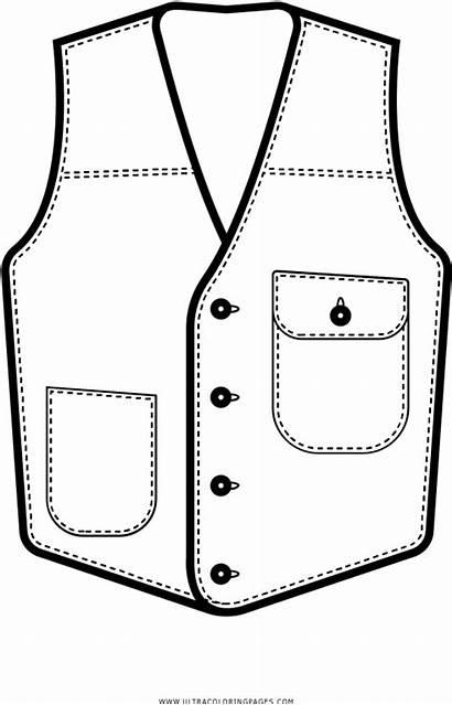 Clipart Vest Coloring Drawing Transparent Outline Webstockreview