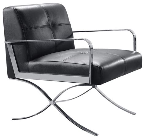 leather chaise lounge chairs indoors divani casa delano modern black leather lounge chair