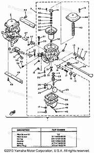 Yamaha Motorcycle 1981 Oem Parts Diagram For Carburetor