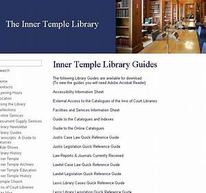 Inner Temple Library Guides