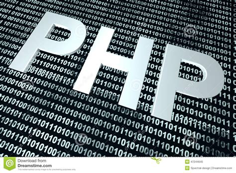 php binary code background stock illustration image