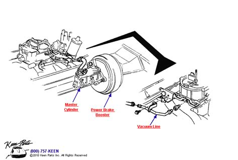Wiring Diagram For Brake Booster by 1965 Corvette Power Brake Vacuum Line Parts Parts