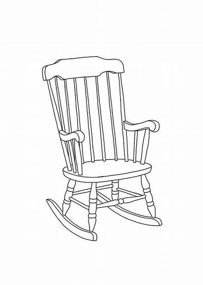 Chair Drawing Rocking Line Draw Chairs Drawings