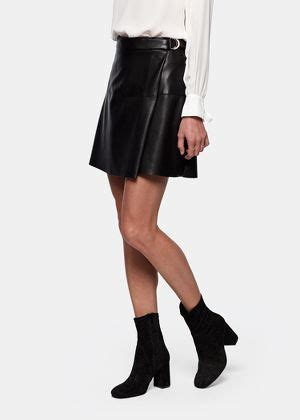 leather  skirt costes fashion