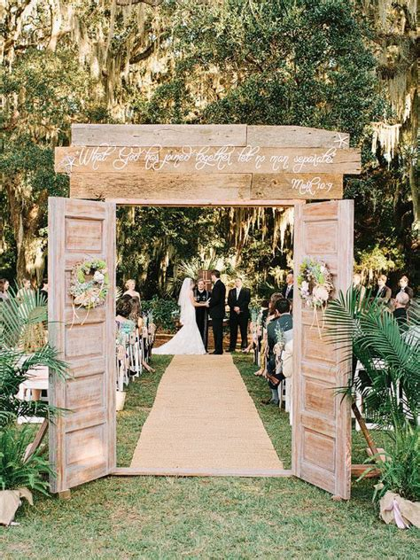 ideas for s grand entrance at outdoor wedding ceremony - Wedding Reception Entrance Mix