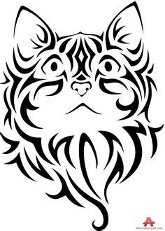 36 Best Cat Face Tribal Tattoo images in 2019   Cat face, Tribal tattoos, Cat tattoo