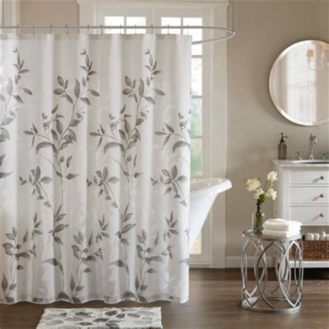 blue grey shower curtain shower curtain leaf gray target 4818