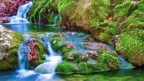 Nature Landscapes Widewallpaper Waterfall 17684