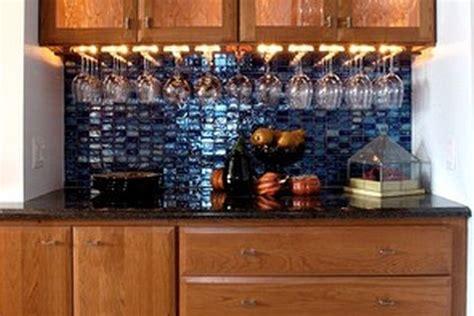 kitchen backsplash design bar design with blue tile backsplash lighting and wine 2207