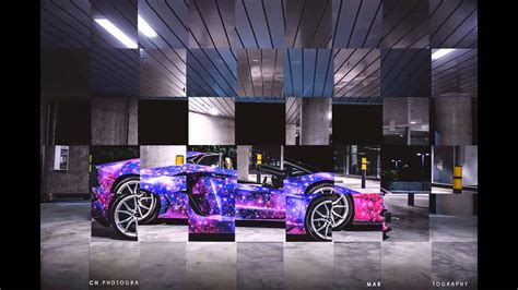 Lamborghini Aventador Modification by Lamborghini Aventador Galaxy Paint Scheme Modification