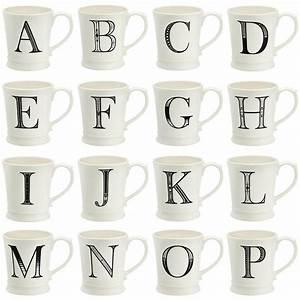 a to z alphabet mug by qtique notonthehighstreetcom With mug lettering