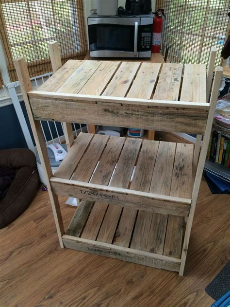 tiered laundry basket holder   recycled pallets