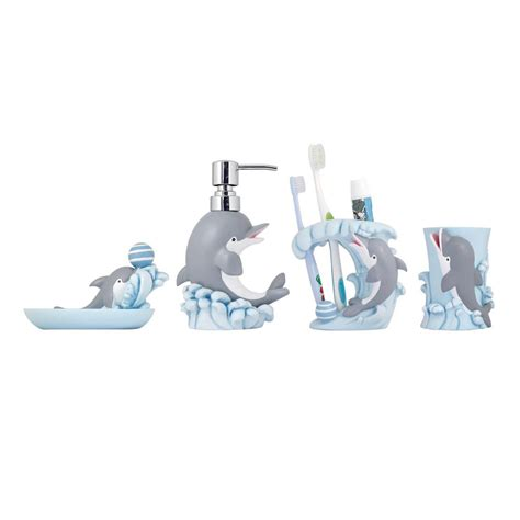 modona dolphin  piece kids bathroom accessories set bs df