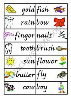 compound words for preschoolers compound word exles for laptuoso