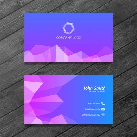 tarjeta de negocios poligonal descargar psd gratis