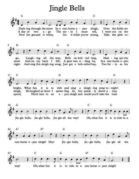 free sheet free lead sheet jingle bells free