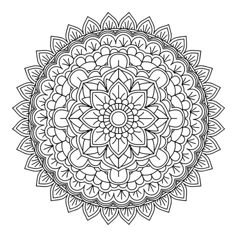 decorative mandala design   vectors clipart