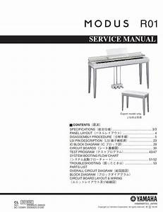 Yamaha Modus R01 Piano Service Manual  U0026 Repair Guide
